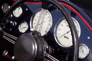 Wall Mural - vintage sports car dashboard