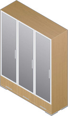 Modern Style Large Wooden Closet with aluminum finnish