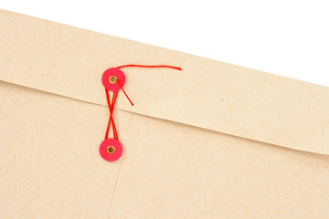 Envelope with red clasp