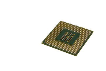 Closeup Processor (CPU) isolated on white