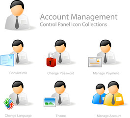 account management  - control panel icon set