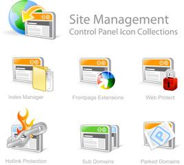site management 2 - control panel icon set