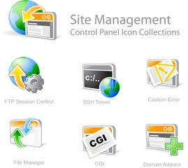 site management - control panel icon set 4