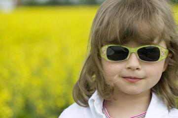 Little girl summer portrait