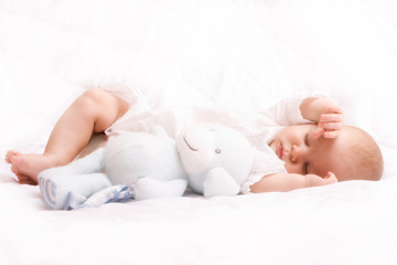 cute little baby sleeping