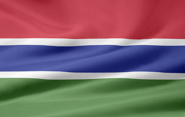 Gambische Flagge