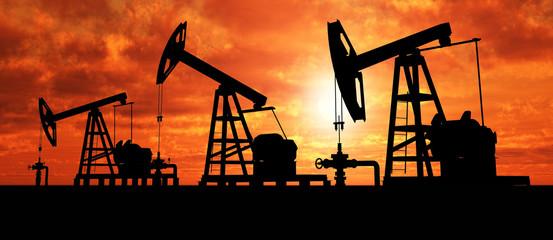 Silhouette three oil pumps