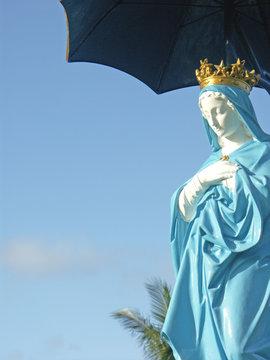 Notre-dame des laves ou vierge au parasol à Sainte-Rose