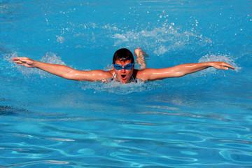 schwimmen - schmetterling - Delfin