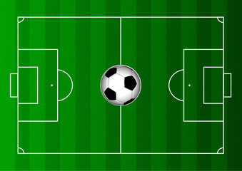 Football Pitch - Overhead View w