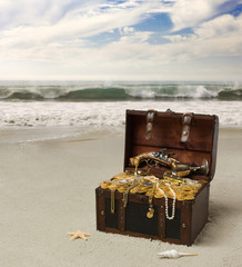 treasure Chest  on Beach