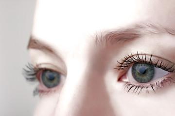 Human eyes.