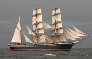 Wall Mural - Tall Ship at Sea