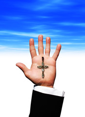 Cross on hand
