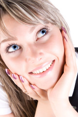 Young happy woman portrait