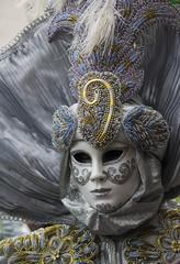 Wall Mural - silver venice carnival costume