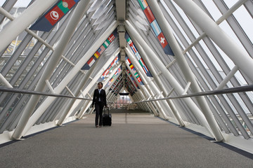 Businesswoman in Walkway