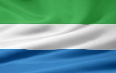Sierra Leonische Flagge