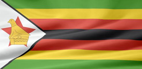 Simbabwe Flagge
