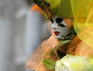 Wall Mural - floral venetian carnival mask