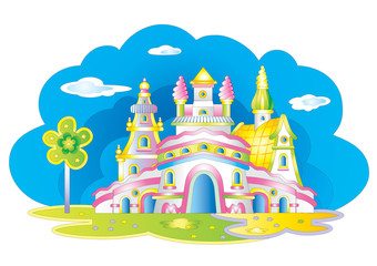 Fairy children`s castle