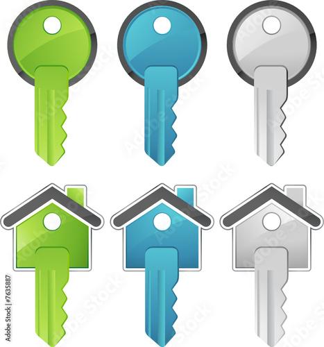 Cl simple et maison fichier vectoriel libre de droits for Les cles de la maison