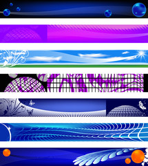 Website banners. 730x90 sizes.
