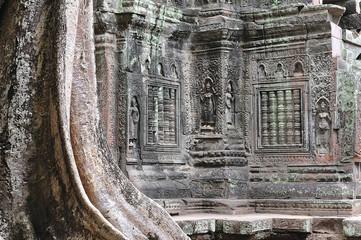 Cambodia; Angkor; Ta Som temple: apsara