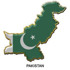 Pakistan metal pin badge
