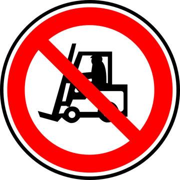 a0205 - Panneau interdiction CHARIOTS ELEVATEURS