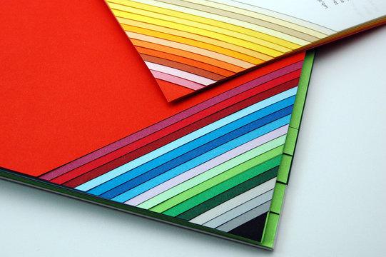 Papier und Farbmuster