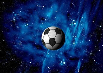Football. Space abstract