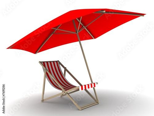 Liegestuhl mit sonnenschirm strand  liegestuhl unter sonnenschirm