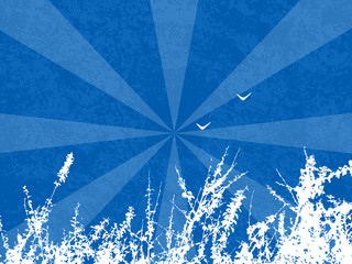 Abstract Blue Vector Field Illustration