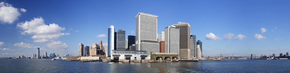 Large panorama of south Manhattan