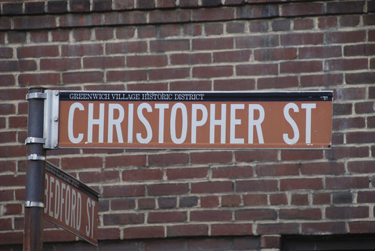 Christopher Street sign in New York