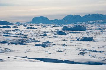 Wall Murals Arctic Ice field in Greenland
