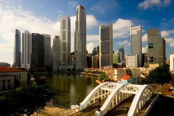Foto op Plexiglas Singapore Skyline of the financial district in Singapore