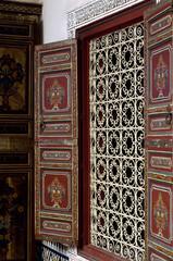 Maroc, Marrakech, détail d'architecture d'un palais