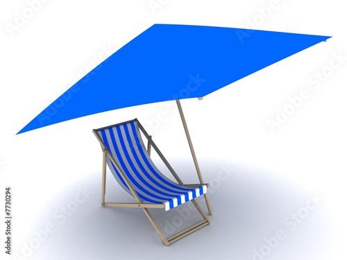 liegestuhl mit sonnenschirm stockfotos und lizenzfreie bilder auf bild 7730294. Black Bedroom Furniture Sets. Home Design Ideas