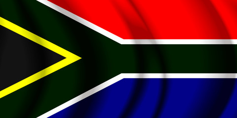South Africa fabric flag