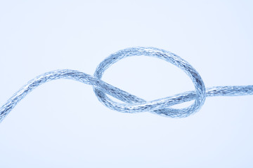 Wire fastened in the knot