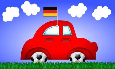 fussball em fanauto deutschland