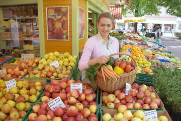 Woman on the fruit market