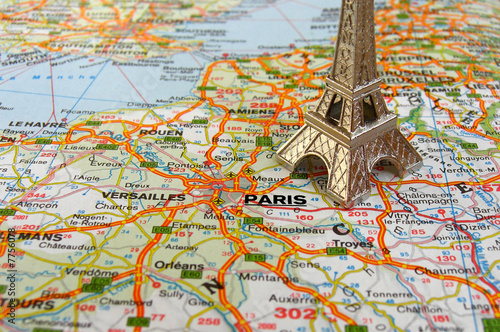 Map Of France Eiffel Tower.Eiffel Tower On France Map Stock Photo And Royalty Free Images On