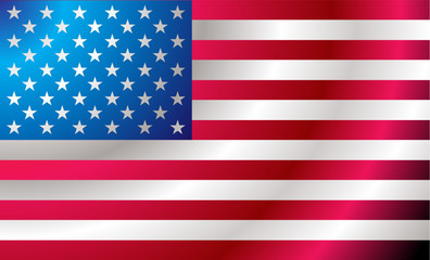 Illustrated us flag with ripples ideal background image