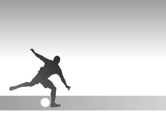 Stricker silhouette 1c - kicking a soccer ball