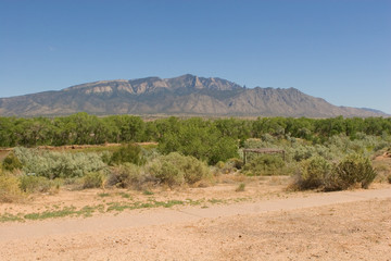 Rio Grande and Sandia Mountains