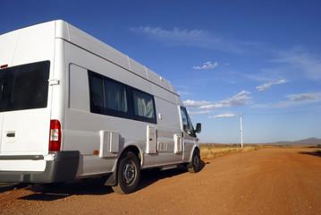Motorhome on its way in Australia