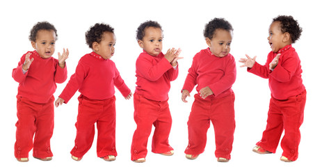 photographic sequence of a baby